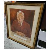 Signed Vtg Portrait Adolph Rupp