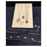 Sterling w/Garnet Jewelry