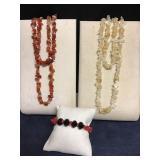 Tumbled Gemstone Necklaces +