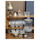 Vtg Glass-Hobnail, Dispensers +