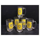 Vtg Henry Clay HS Glass Mugs 6
