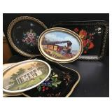 Vtg Metal Trays