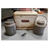 Vtg Railroad Lunch Pails & Cooler