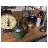 Vtg Small Oil Cans, Scale +