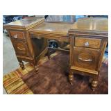 Vtg Walnut Dressing Table