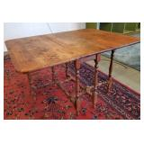 Vtg Walnut Gateleg Table