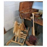 Vtg Wood Tools, Rocking Horse +