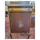 Atq Oak Sheet Music Cabinet