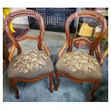 Atq Walnut Balloon Back Chairs