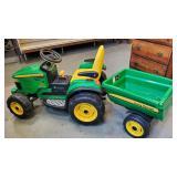 Childs John Deere Tractor & Cart