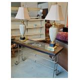 Console Table + Lamps