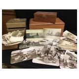 Handmade Boxes & Vtg Photographs