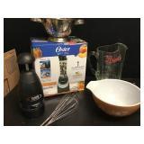 Kitchen Ware + Vtg Pyrex Bowl