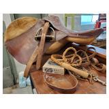 Leather English Riding Saddle
