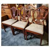 Mahogany Shield Back Chairs 6