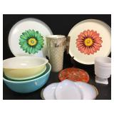 MCM Serve Ware + Pyrex Bowls