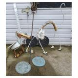 Outdoor Decor - Cat, Pelican, Frogs