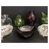 Vtg Colored Glass - Owl, Blenko