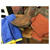 Vtg Leather English Riding Saddle