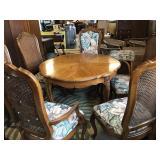 Vtg Thomsonville Walnut Table & Chairs - Set
