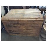 Vtg Wood Military Crate
