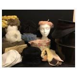 Womens Vtg Hats, Boxes, Fur