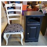 Wood Chair and Shelf