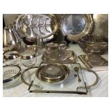 Large Assortment of Silver Plate