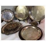 Lg Silver Plate Trays