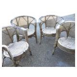 Shabby Chic Vtg Wicker Chairs