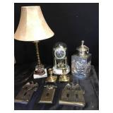 Thomas Kincaid Clock, Brass