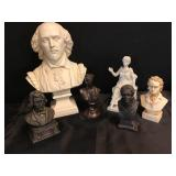Vtg Busts - Famous People