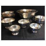 Vtg Silver Plate Paul Revere Bowls