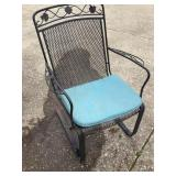 Vtg Wrought Iron Patio Chair