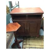 Wood Cabinet, Octagon Table