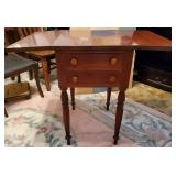 Atq Cherry Drop Leaf Side Table