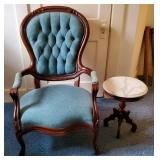 Atq Parlor Chair & Table