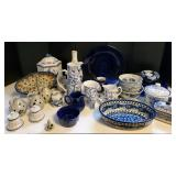 Blue & White Serving Pieces +