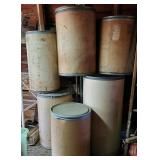 Cardboard & Metal Barrel Containers