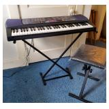 Casio Keyboard, Stand & Bench