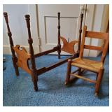 Dolls Bed & Childs Rocking Chair