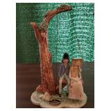 Nuove-Capodimonte Couple on Swing Figurine