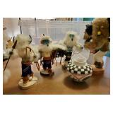 Signed Native American Kachinas + Pot