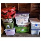 Tubs w/Christmas Wrapping & Storage 9+