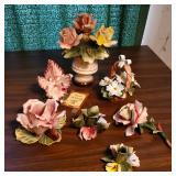 Vtg Capodimonte Flowers +