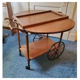 Vtg Cherry Tea Cart