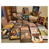 Vtg DVDs & VCR Movie Tapes