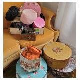 Vtg Hats + Hatboxes