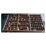 Vtg Letterpress Printers Drawer with Miniatures