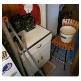 Vtg Metal Cabinet +